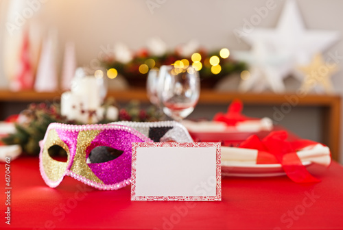 New Years dinner table setting
