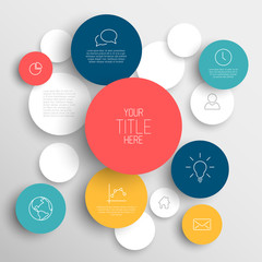 Vector abstract circles infographic template