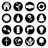 Set of ecology icons