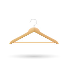 Wooden Hanger Vector Illustration