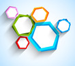 Abstract background with hexgons