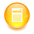 bouton internet calculatrice finance icon orange