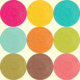 Cute seamless pattern with round.