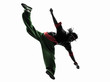 hip hop acrobatic break dancer breakdancing young man jumping si