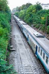 Treno sui binari, ferrovia
