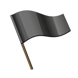 Black Curl Flag Icon