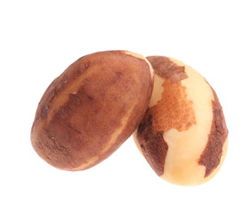 Two brazil nuts.