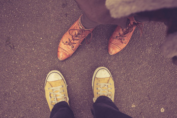 Couple's feet