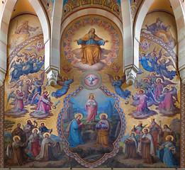 Vienna - Big fresco from presbytery of Carmelites church