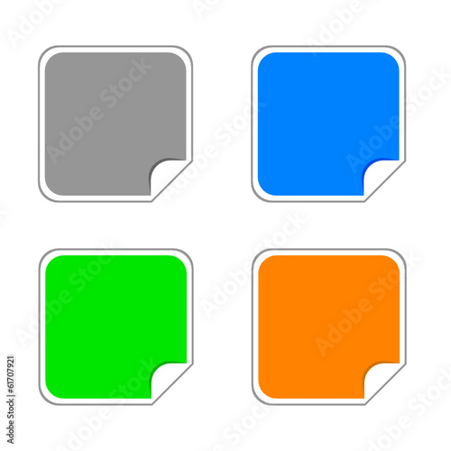 stickers color vector illustration