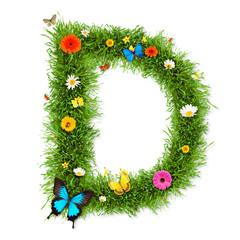 """Spring letter """"D"""""""