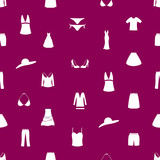 womens clothing icon pattern eps10