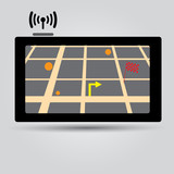 digital gps navigation icon eps10