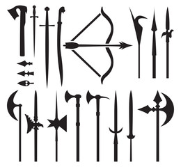 medieval weapon icons
