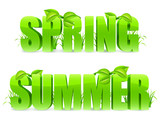 Spring and Summer words.