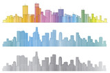 Vector colorful cities.