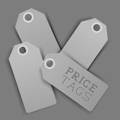 Clean Design Vector Price Tags