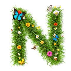 """Spring letter """"N"""""""
