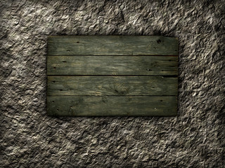 alte holzbretter auf steinhintergrund