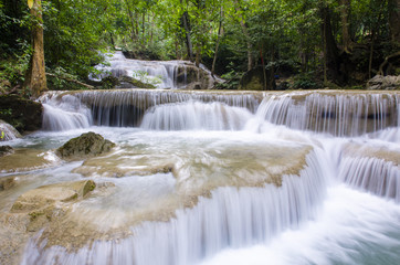 Era-wan waterfall National Park at Kanchanaburi, Thailand