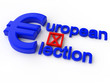 European Parliament Election over white Background
