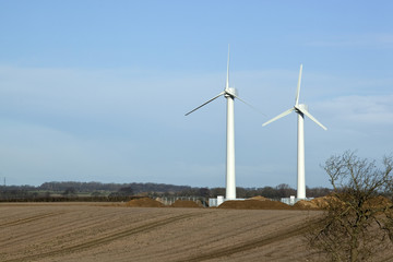 Wind turbines, Lincolnshire.
