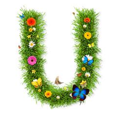 """Spring letter """"U"""""""