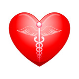 vector illustration of medical symbol on heart