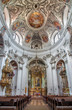 Vienna - Nave and cupola of baroque Servitenkirche - church