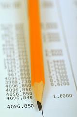 Les chiffres et le crayon à papier