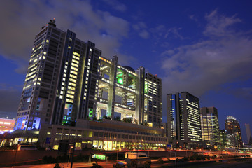Buildings around Daiba and Night View