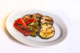 eggplant with red pepper grilled