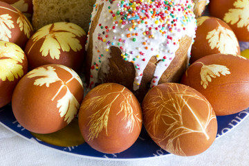 Easter eggs and pie