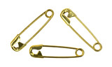 Three Small Gold Safety Pins