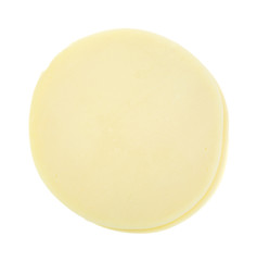 Provolone Cheese On White Background