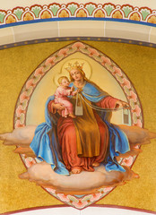 Vienna - Fresco of Madonna in Carmelites church