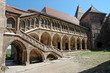 The inner courtyard of the Corvin castle in Transylvania