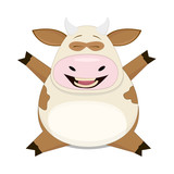 Cute vector cow