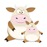 Two vector cows