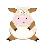 Cute vector cartoon cow