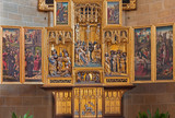 Vienna - gothic altar in Church of the Teutonic Order