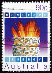 Postage stamp Australia 1985 Harnessed Energy, Environmental
