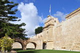 main gate and wall of Mdina,silent city,Malta