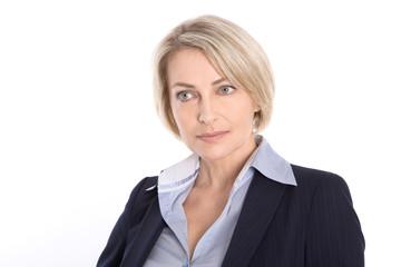Portrait isoliert einer älteren attraktiven business Frau