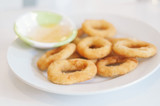 Onion Rings with sweet sauce