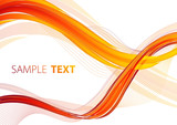 Abstract background with red and orange lines. Vector