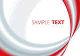 Abstract red and gray template. Vector