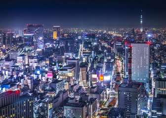 Tokyo Cityscape Over the Ginza District