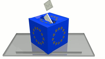 Europawahl Animation 3D