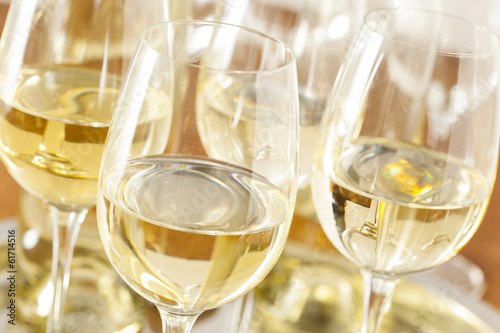 Refreshring White Wine in a Glass - 61714516
